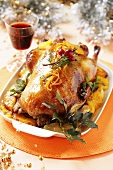 Roast duck with oranges (Christmas)
