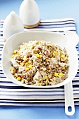 Salad with wheat and sweetcorn