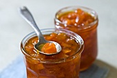 Two jars of pumpkin jam