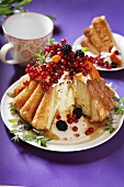 Babka (Polish yeast cake) with berries