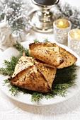 Teigtasche mit Sauerkrautfüllung zu Weihnachten (Polen)