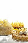 Pineapple cake, passion fruit cheesecake and lemon cupcakes