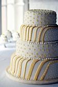 Four-tiered lemon cake