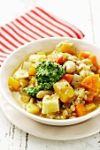 Root vegetable and barley stew