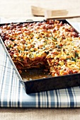 Lasagne made with minced pork