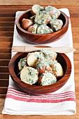 Potato salad with herb yoghurt