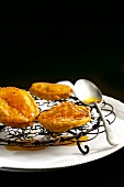Butternusskürbis Fritters mit Zimt