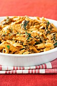 Penne with biltong and pesto