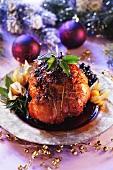 Roast ham in honey sauce (Christmas)