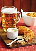 Potato and chicken croquettes