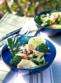Broccoli and fennel salad with macadamia nuts