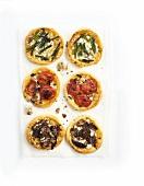 Asparagus, tomato and mushroom tarts with ricotta
