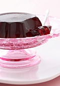 Champagne jelly with berries