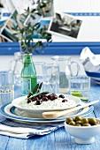 Tzatziki with olives