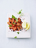 Strawberry carpaccio with balsamic vinegar
