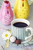 Coffee and chocolates for Easter