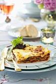 Mushroom lasagne for Easter