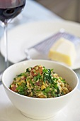Barley risotto with herbs