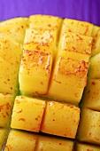 Mango, cut into cubes (detail)