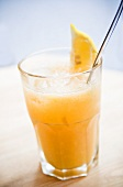 Orange and lemon drink with crushed ice