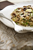 Risotto ai funghi (Mushroom risotto with parsley, Italy)