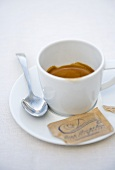 Espresso and sugar sachet