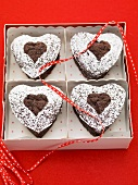 Chocolate hearts to give as gifts