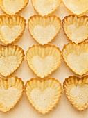 Heart-shaped pastry shells
