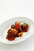 Braised beef with pepper sauce
