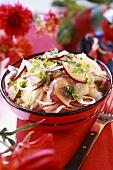 Plum and onion salad