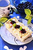 Apple and blueberry slice