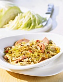 Tyrolean cabbage and pasta dish