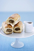 Puff pastry rolls with meat filling