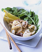 Grilled squid pieces, Asian style