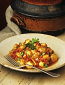 Spicy mushroom and tomato stew
