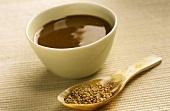 Tahini (bitter sesame paste) and sesame seeds