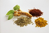 Spices (saffron, bay leaf, cumin, turmeric)