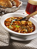 Cabbage and pasta stew