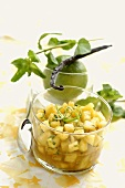 Pineapple salad with lime zest and vanilla
