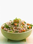 Vegetarian brown rice salad