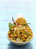 Colourful sweetcorn salad