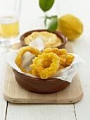 Deep-fried squid rings with aioli dip