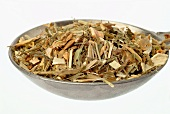 Dried Goat's rue on a spoon