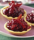 Raspberry and orange jam in tartlets