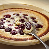 Cherry clafouti (sweet cherry dessert)