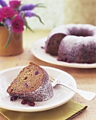 Ring-shaped nut cake with candied fruit