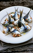 Sardines stuffed with rice