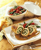 Turkey roll with green bean stuffing
