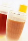 Two vegetable juices: carrot & sea buckthorn & apple & beetroot
