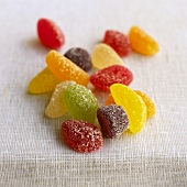 Assorted sugared fruit jelly sweets